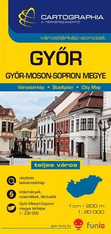 """Cartographia Kiadó - GYŐR VÁROSTÉRKÉP 1:20000 CART. """"SC"""""""