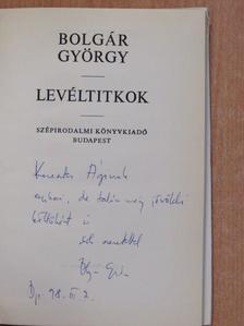 Bolgár György - Levéltitkok (dedikált példány) [antikvár]