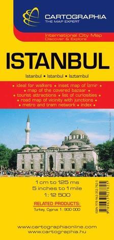 """Cartographia - Isztambul várostérkép 1:12500 cart. """"sc"""""""