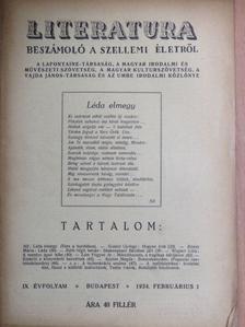 dr. Lám Frigyes - Literatura 1934. februárius 1. [antikvár]