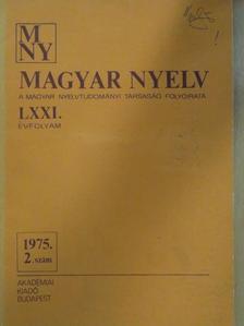 Bálint Sándor - Magyar Nyelv 1975/2. [antikvár]