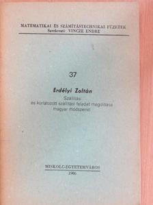 Erdélyi Zoltán - Szállítási és korlátozott szállítási feladat megoldása magyar módszerrel [antikvár]