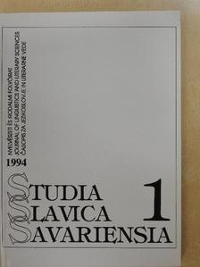 Cs. Jónás Erzsébet - Studia Slavica Savariensia 1994./1 [antikvár]