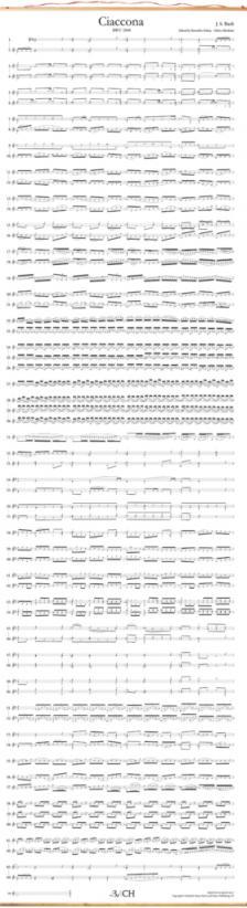 Bach - RÉSZLETEK AZ ÖRÖKKÉVALÓSÁGBÓL - KOTTAMELLÉKLET - BACH: CIACCONA BWV 1004 (Chaconne)