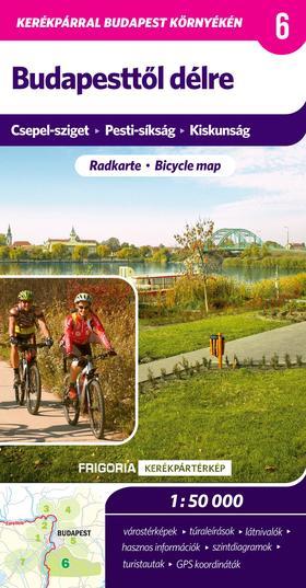 Budapesttől délre kerékpáros térkép