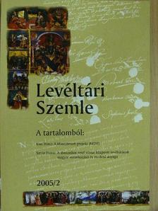 Beke Margit - Levéltári Szemle 2005/2. [antikvár]