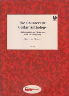CHANTERELLE GUITAR ANTHOLY. 40 CLASSICAL GUITAR MINIATURES (MACMEEKEN / MESIRCA) + AUDIO CD