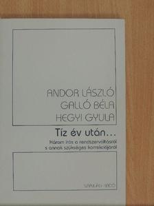 Andor László - Tíz év után... [antikvár]