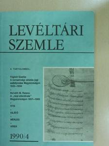 Albrechtné Kunszeri Gabriella - Levéltári Szemle 1990/4. [antikvár]
