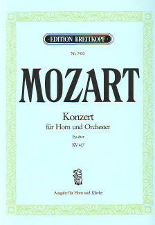 MOZART, W,A, - KONZERT FÜR HORN UND ORCHESTER ES-DUR KV 417, KLAVIERAUSZUG (DAMM / KNOLLE)