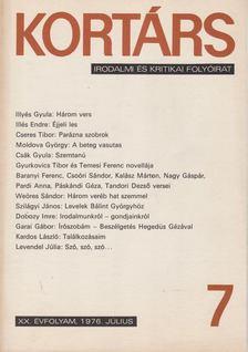 Bécsy Tamás - Kortárs 1976. XX. évf. 7. szám [antikvár]