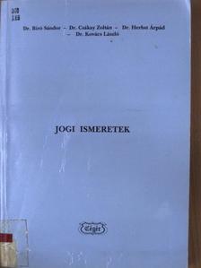 Dr. Bíró Sándor - Jogi ismeretek [antikvár]
