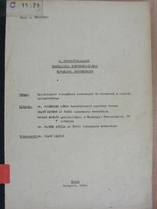 Dr. Susánszky János - 9. tervezővállalati kerekasztal konferenciájának kivonatos jegyzőkönyve [antikvár]
