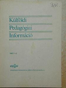 Barkó Endre - Külföldi Pedagógiai Információ 1987/1-2. [antikvár]