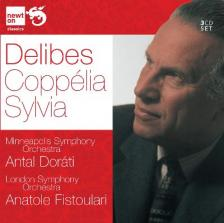 DELIBES - COPPÉLIA -SYLVIA 3CD DORÁTI ANTAL, ANATOLE FISTOULARI