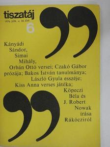 Bakos István - Tiszatáj 1976. június [antikvár]