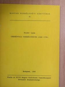 Mizser Lajos - Cserépfalu személynevei [antikvár]