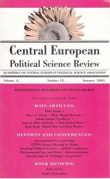 Simon János - Central European Political Science Review vol. 4. no. 12. [antikvár]