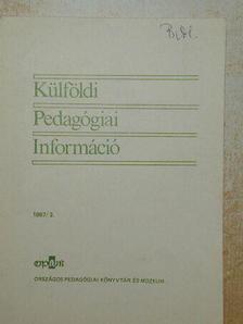 Barkó Endre - Külföldi Pedagógiai Információ 1987/3. [antikvár]