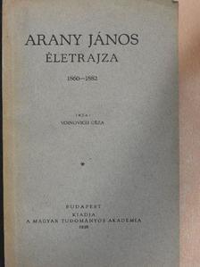 Voinovich Géza - Arany János életrajza III. [antikvár]