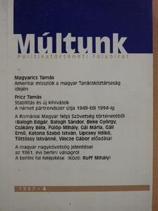 Balogh Edgár - Múltunk 1997/4. [antikvár]