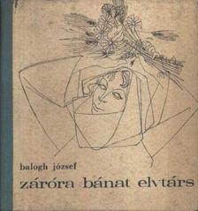 Balogh József - Záróra bánat elvtárs [antikvár]