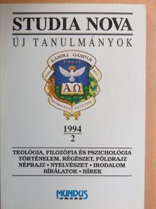 Bertha Zoltán - Studia Nova 1994/2 [antikvár]