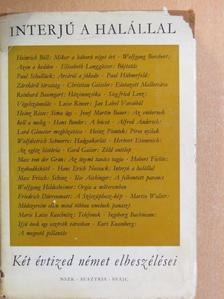 Alfred Andersch - Interjú a halállal [antikvár]