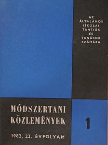 Berkes Miklós - Módszertani Közlemények 1982/1. [antikvár]