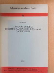 Joó Rudolf - A Nyugat-Európai kisebbségi-tájegységi mozgalmak napjainkban [antikvár]