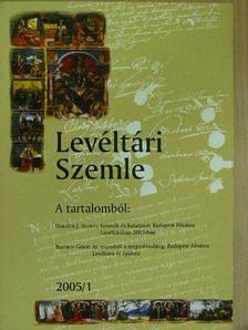 Breinich Gábor - Levéltári Szemle 2005/1. [antikvár]