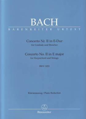 J. S. Bach - CONCERTO NR.II E-DUR BWV 1053 FÜR CEMBALO & STREICHER, KLAVIERAUSZUG URTEXT