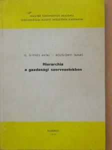 Ifj. Gyenes Antal - Hierarchia a gazdasági szervezetekben [antikvár]