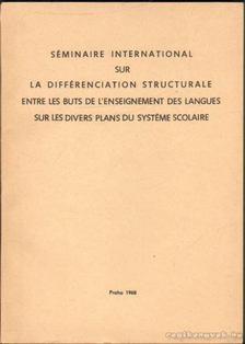 Séminaire International sur la Différenciation Structurale [antikvár]