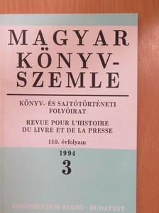 Bogoly József Ágoston - Magyar Könyvszemle 1994/3. [antikvár]