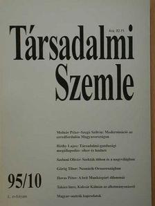 Görög Tibor - Társadalmi Szemle 1995. október [antikvár]