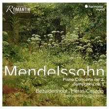 MENDELSSOHN - PIANO CONCERTO NO.2 - SYMPHONY NO.1 CD BEZUIDENHOUT, HERAS-CASADO