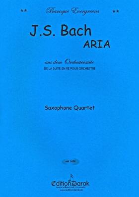 J. S. Bach - ARIA AUS DEM ORCHESTERSUITE FOR SAXOPHONE QUARTET, ARR. BY DAROK LAJOS