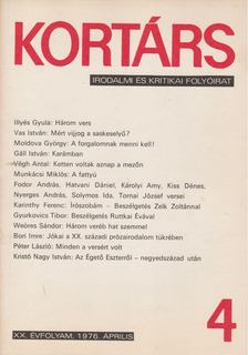 Bécsy Tamás - Kortárs 1976. XX. évf. 4. szám [antikvár]