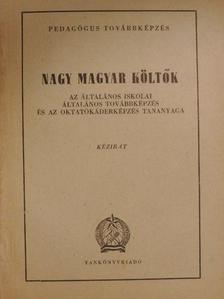 Angyal Endre - Nagy magyar költők [antikvár]