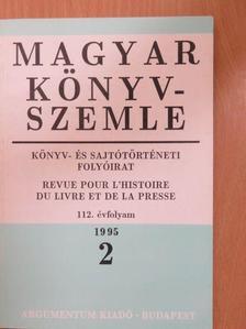 Borbély Szilárd - Magyar Könyvszemle 1995/2. [antikvár]