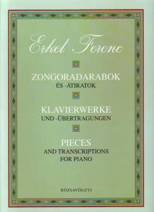 Erkel Ferenc - ZONGORADARABOK ÉS -ÁTIRATOK (KLAVIERWERKE UND -ÜBERTRAGUNGEN)