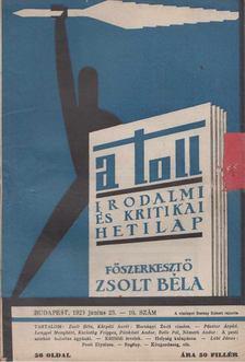 ZSOLT BÉLA - A toll I. évf. 10 sz. (1929. június 23.) [antikvár]