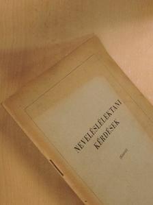 Lénárd Ferenc - Neveléslélektani kérdések [antikvár]