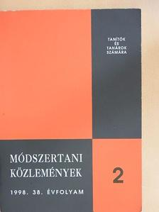 Dr. Bóra Ferenc - Módszertani közlemények 1998/2. [antikvár]