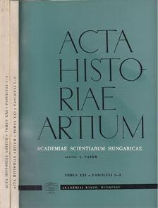 Vayer Lajos - Acta Historiae Artium  Tomus XXI 1-2/3-4 [antikvár]