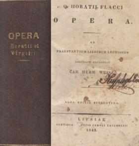 HORATIUS, FLACCUS QUINTUS, VERGILIUS MARO, PUBLIUS - Q. Horatii Flacci Opera / P. Virgilii Maronis Opera [antikvár]