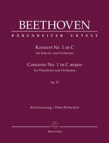 BEETHOVEN - KONZERT NR.1 IN C FÜR KLAVIER UND ORCHESTER OP.15 KLAVIERAUSZUG URTEXT (J. DEL MAR)