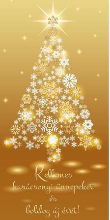 12417 - Képeslap borítékos LA/4 karácsonyi KF353
