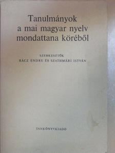 Berrár Jolán - Tanulmányok a mai magyar nyelv mondattana köréből [antikvár]